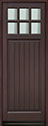 DB-113PT-A Mahogany-Walnut Wood Entry Door