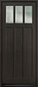 DB-114PW Mahogany-Espresso Wood Entry Door