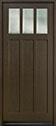 DB-114PW Mahogany-Walnut Wood Entry Door