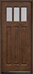 DB-115 Knotty Alder-Natural Walnut Wood Entry Door