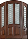 DB-152WDG 2SL Mahogany-Walnut Wood Entry Door