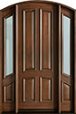 DB-152 2SL Mahogany-Walnut Wood Entry Door