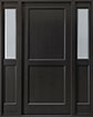 DB-201PS 2SL Mahogany-Espresso Wood Entry Door