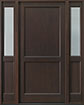 DB-201PS 2SL Mahogany-Walnut Wood Entry Door