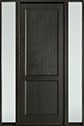 DB-201PT 2SL-F Mahogany-Espresso Wood Entry Door