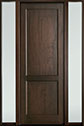 DB-201PT 2SL-F Mahogany-Walnut Wood Entry Door