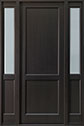DB-201PT 2SL Mahogany-Espresso Wood Entry Door