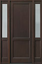 DB-201PT 2SL Mahogany-Walnut Wood Entry Door