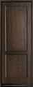 DB-201PT Mahogany-Walnut Wood Entry Door