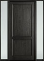 DB-201PW 2SL-F Mahogany-Espresso Wood Entry Door