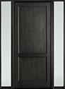 DB-201PW 2SL-F Mahogany-Espresso Wood Door - in-Stock