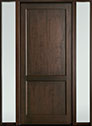 DB-201PW 2SL-F Mahogany-Walnut Wood Entry Door