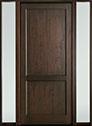 DB-201PW 2SL-F Mahogany-Walnut Wood Door - in-Stock