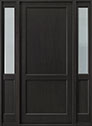DB-201PW 2SL Mahogany-Espresso Wood Entry Door