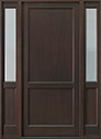 DB-201PW 2SL Mahogany-Walnut Wood Entry Door