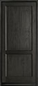 DB-201PW Mahogany-Espresso Wood Entry Door
