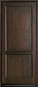 DB-201PW Mahogany-Walnut Wood Entry Door