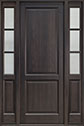 DB-202PT 2SL Mahogany-Espresso Wood Entry Door
