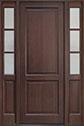 DB-202PT 2SL Mahogany-Walnut Wood Entry Door