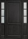 DB-202PW 2SL Mahogany-Espresso Wood Entry Door