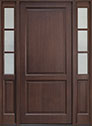 DB-202PW 2SL Mahogany-Walnut Wood Entry Door