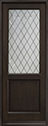 DB-203PTDG Mahogany-Espresso Wood Entry Door