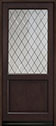 DB-203PWDG Mahogany-Espresso Wood Entry Door