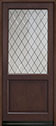 DB-203PWDG Mahogany-Walnut Wood Entry Door