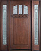 DB-211S 2SL Mahogany-Dark Mahogany Wood Entry Door