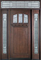 DB-211S 2SL TR Mahogany-Dark Mahogany Wood Entry Door