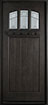 DB-211S Mahogany-Espresso Wood Entry Door