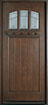DB-211S Mahogany-Walnut Wood Entry Door