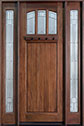 DB-211T 2SL Mahogany-Medium Mahogany Wood Entry Door