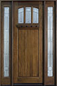 DB-211T 2SL Mahogany-Walnut Wood Entry Door