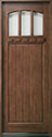DB-211T Mahogany-Medium Mahogany Wood Entry Door