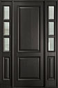 DB-301PT 2SL Mahogany-Espresso Wood Entry Door