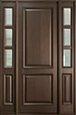 DB-301PT 2SL Mahogany-Walnut Wood Entry Door