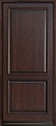DB-301PW Mahogany-Dark Mahogany Wood Entry Door