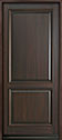 DB-301PW Mahogany-Walnut Wood Entry Door