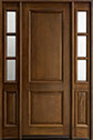 DB-301T 2SL Mahogany-Walnut Wood Entry Door