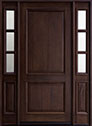 DB-301W 2SL Mahogany-Dark Mahogany Wood Entry Door