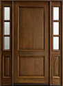 DB-301W 2SL Mahogany-Walnut Wood Entry Door