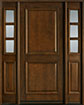 DB-301 2SL Mahogany-Walnut Wood Entry Door