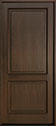 DB-302PW Mahogany-Walnut Wood Entry Door