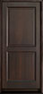 DB-303PS Mahogany-Walnut Wood Entry Door
