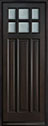 DB-311PT Mahogany-Espresso Wood Entry Door