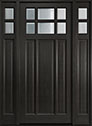 DB-311PW 2SL Mahogany-Espresso Wood Entry Door