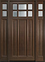 DB-311PW 2SL Mahogany-Walnut Wood Entry Door