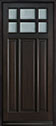 DB-311PW Mahogany-Espresso Wood Entry Door