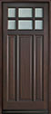 DB-311PW Mahogany-Walnut Wood Entry Door